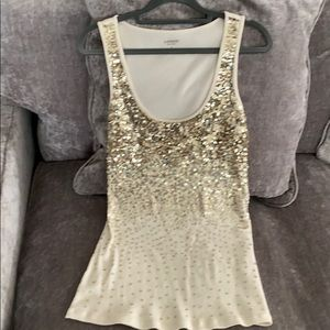 Cute holiday sequin tank top